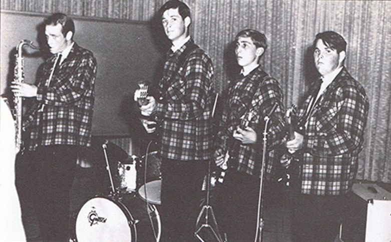 The Pendletones In 1962 Before Changing Name To Beach Boys From Left Mike Love Brian Wilson David Marks Carl Dennis Hidden